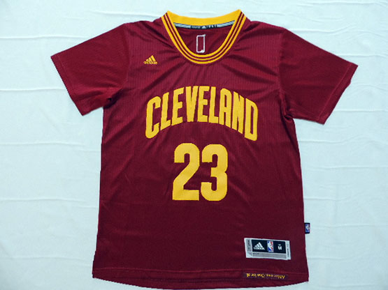 Mens Nba Cleveland Cavaliers #23 Lebron James Red (short Sleeve) Jersey