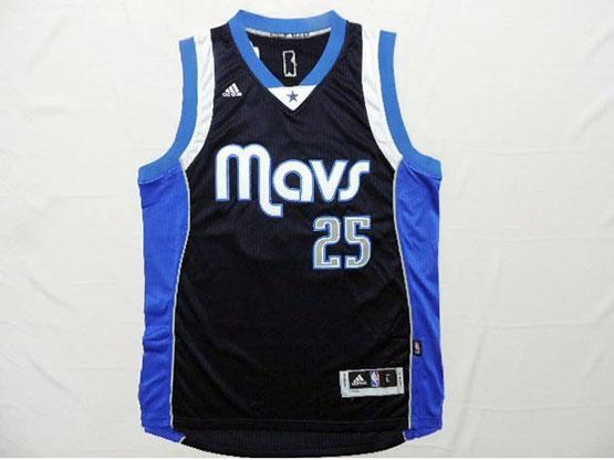 Mens Nba Dallas Mavericks #25 Parsons Dark Blue Revolution 30 Jersey (p)