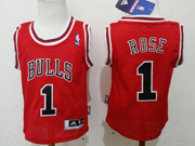 Youth Nba Chicago Bulls #1 Rose Red Jersey (m)