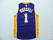 Mens Nba Los Angeles Lakers #1 Russell Purple Jersey (p)