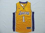 Mens Nba Los Angeles Lakers #1 Russell Gold Jersey (p)