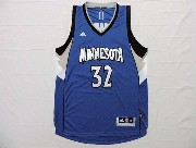 Mens Nba Minnesota Timberwolves #32 Towns Blue Revolution 30 Jersey (p)