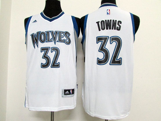 Mens Nba Minnesota Timberwolves #32 Towns White Revolution 30 Jersey (p)