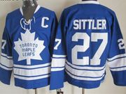 Mens nhl toronto maple leafs #27 sittler blue ccm Jersey