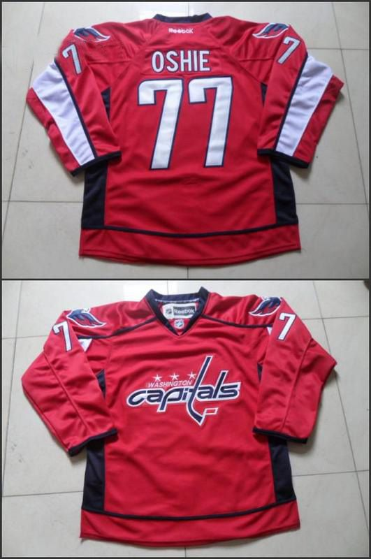 Mens reebok nhl washington capitals #77 oshie red Jersey