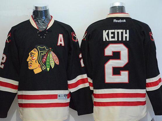 Mens reebok nhl chicago blackhawks #2 keith black a patch 2015 winter classic Jersey