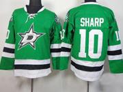 Mens reebok nhl dallas stars #10 sharp green Jersey