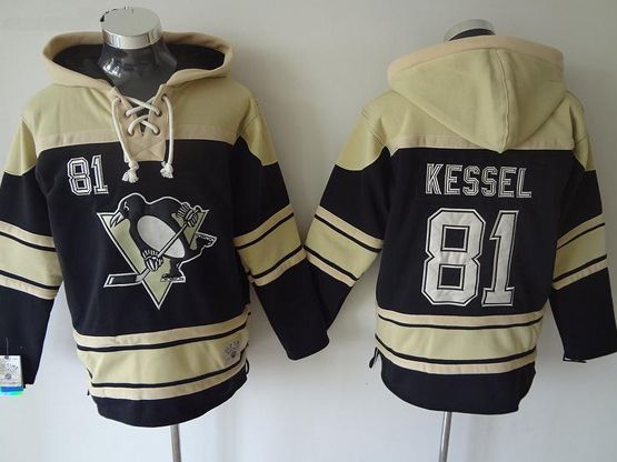Mens nhl pittsburgh penguins #81 kessel black hoodie Jersey