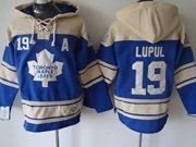 Mens nhl toronto maple leafs #19 lupul blue hoodie with a patch Jersey