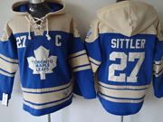 Mens nhl toronto maple leafs #27 sittler blue hoodie with c patch Jersey