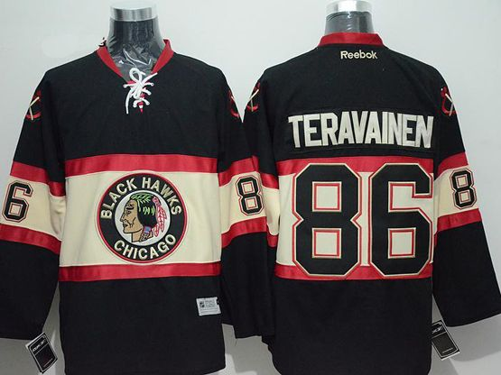 Mens reebok nhl chicago blackhawks #86 teravainen black (new third) Jersey