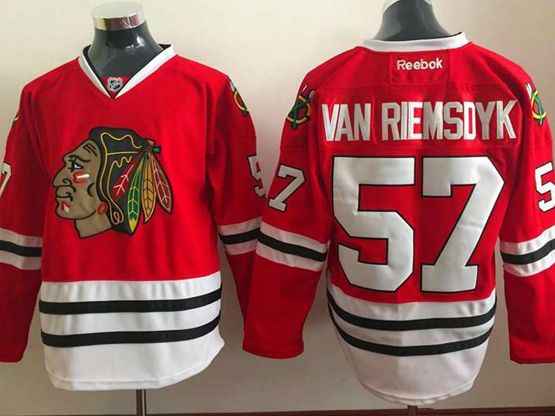 Mens reebok nhl chicago blackhawks #57 van riemsdyk red Jersey