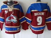 Mens nhl colorado avalanche #9 mcdonald cream hoodie Jersey