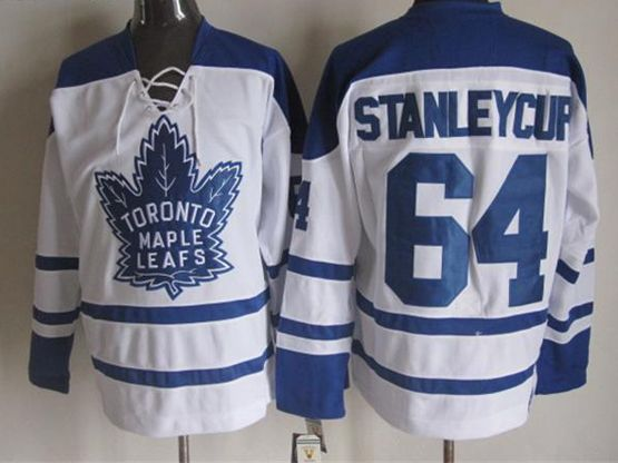 Mens Reebok Nhl Toronto Maple Leafs #64 Tanleycup White Throwbacks 3rd Jersey