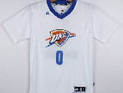 mens nba Oklahoma City Thunder #0 Russell Westbrook white (short sleeve) jersey