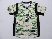 Mens Nba San Antonio Spurs #2 Leonard Camo Realtree (short Sleeve) Jersey