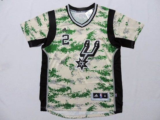 Mens Nba San Antonio Spurs #2 Leonard Camo Realtree (short Sleeve) Jersey
