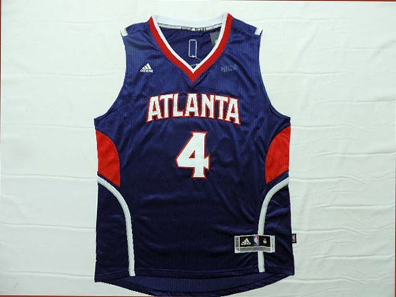Mens Nba Atlanta Hawks #4 Millsap Blue Throwback Jersey