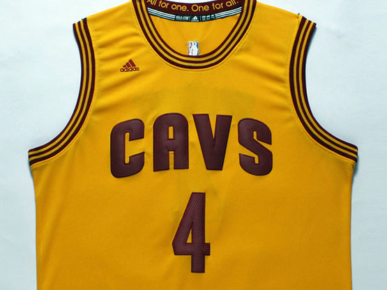 Mens Nba Cleveland Cavaliers #4 Shumpert Yellow Revolution 30 Jersey (p)