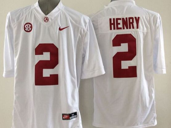 Mens Ncaa Nfl Alabama Crimson #2 Henry White Sec Limited Jersey