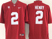 Mens Ncaa Nfl Alabama Crimson #2 Henry Red Sec Limited Jersey