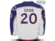 Mens reebok nhl columbus blue jackets #20 saad white Jersey