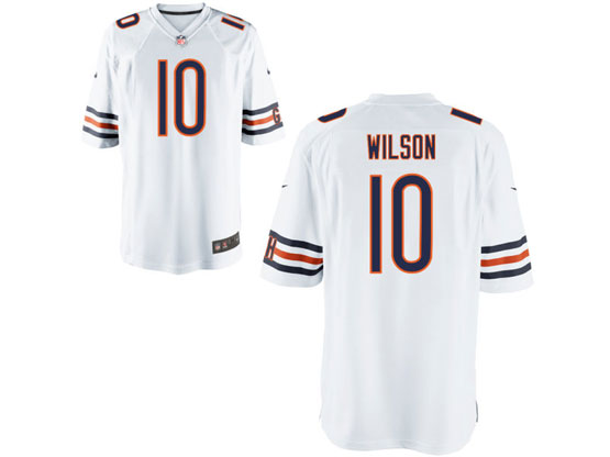 Mens Nfl Chicago Bears #10 Wilson White Game Jersey