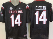 Mens Ncaa Nfl South Carolina Gamecock #14 C.shaw Black (sec) Jersey