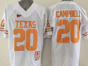 Mens Ncaa Nfl Texas Longhorns #20 Campbell White Jersey