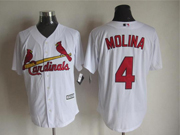 Mens Mlb St.louis Cardinals #4 Molina White Jersey