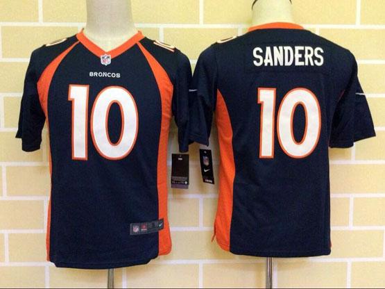 Youth Nfl Denver Broncos #10 Sanders Blue (2014 New) Game Jersey
