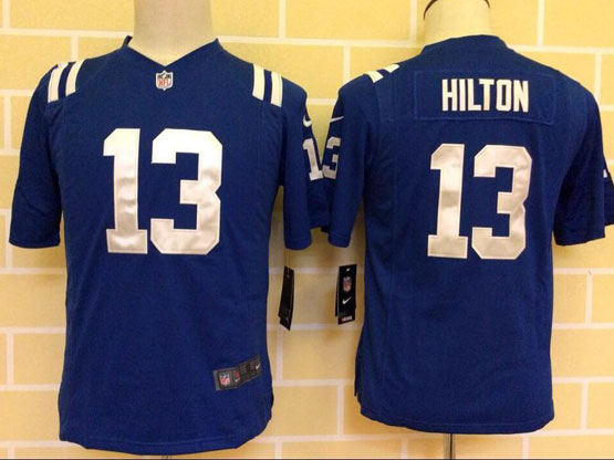 Youth Nfl Indianapolis Colts #13 Hilton Blue Game Jersey