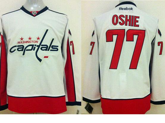 Mens reebok nhl washington capitals #77 oshie white Jersey