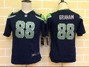Youth Nfl Seattle Seahawks #88 Graham Blue Game Jersey