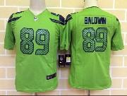 Youth Nfl Seattle Seahawks #89 Baldwin Green Game Jersey