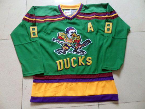 Mens ccm nhl anaheim mighty ducks #8 selanne green Jersey