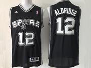 Mens Nba San Antonio Spurs #12 Aldridge Black Revolution 30 Jersey (p)