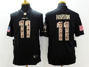 Mens Nfl Seattle Seahawks #11 Harvin Salute To Service Black Limited Jersey