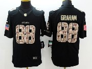 Mens Nfl Seattle Seahawks #88 Graham Salute To Service Black Limited Jersey