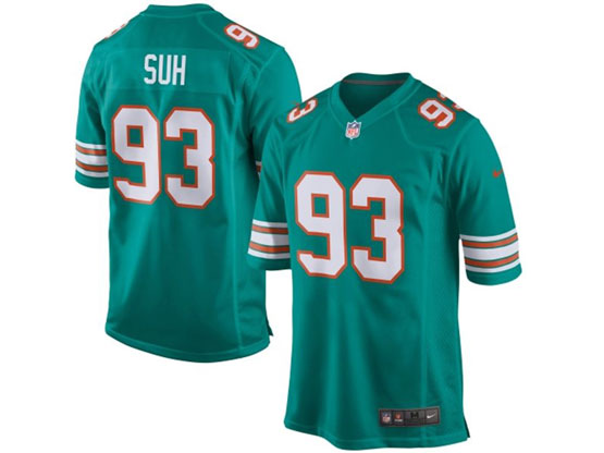 Mens Nfl Miami Dolphins #93 Suh Green (2015 New) Elite Jersey