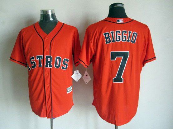 Mens Mlb Houston Astros #7 Biggio Orange 2015 New Jersey