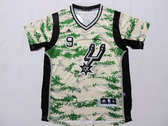 Mens Nba San Antonio Spurs #9 Parker Camouflage Painting (short Sleeve) Jersey