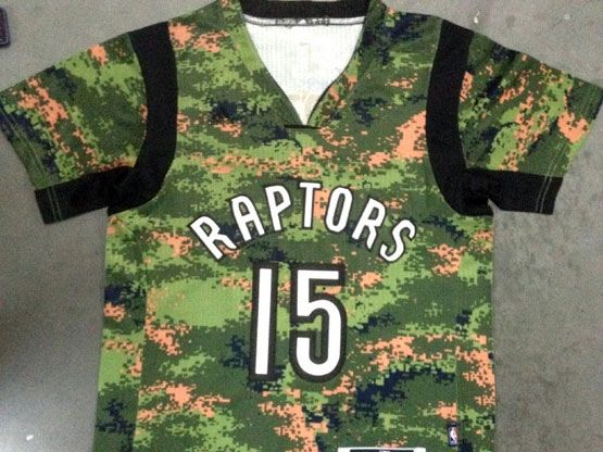 Mens Nba Toronto Raptors #15 Carter Camouflage Painting (short Sleeve) Jersey