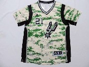 Mens Nba San Antonio Spurs #21 Duncan Camouflage Painting (short Sleeve) Jersey