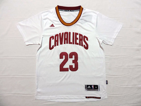 Mens Nba Cleveland Cavaliers #23 Lebron James White (short Sleeve) Jersey