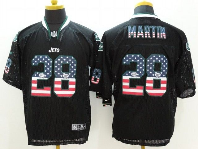 mens nfl New York Jets #28 Curtis Martin black (2014 usa flag fashion) elite jersey