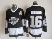 Mens Nhl Los Angeles Kings #16 Dionne A Patch Black Throwbacks Jersey Dt