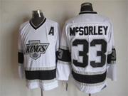 Mens Nhl Los Angeles Kings #33 Mcsorley A Patch White Throwbacks Jersey Dt