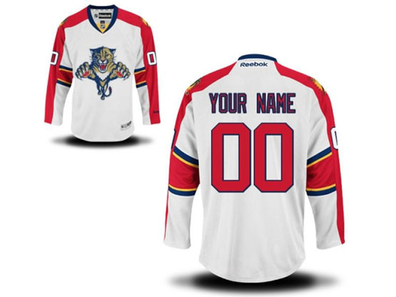 Mens Reebok Florida Panthers White Away Premier Jersey