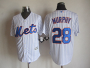 Mens mlb new york mets #28 murphy white (2015 new blue stripe) Jersey